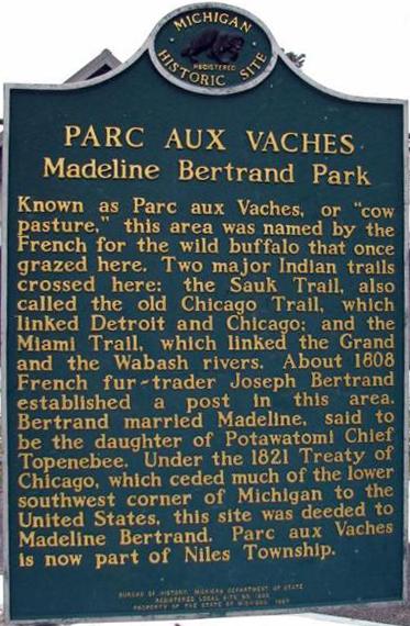 Madeline Bertrand Park Marker