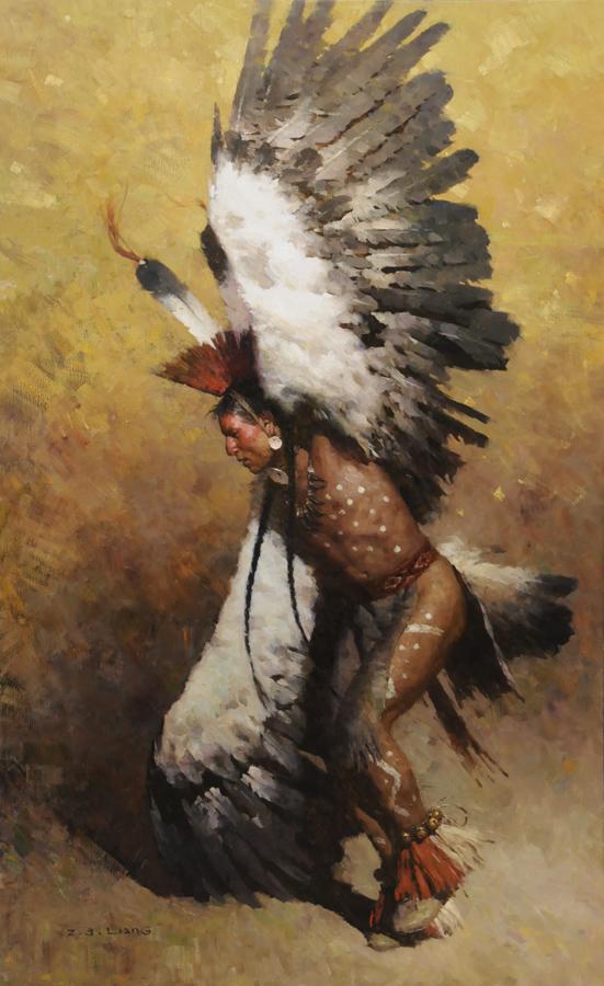 Oiseau Grand Esprit dans OISEAUX EagleDancerPotawatomi58x36S